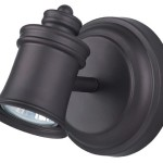 Canarm ICW299A01ORB10 Taylor 1-Bulb Wall Mount Track Light, Oil Rubbed Bronze