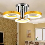 LightInTheBox LED Acrylic Chandelier with 3 lights (Gold) – 90-240VHome Ceiling Light Fixture Flush Mount, Pendant Light Chandeliers Lighting,