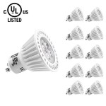 LE® 6.5W Dimmable MR16 GU10 LED Bulbs, 50W Halogen Bulbs Equivalent, UL Listed, 360lm, 25° Beam Angle, Warm White, 3000K, Recessed Light, Track Lighting, Spotlight, LED Light Bulbs, Pack of 10 Units