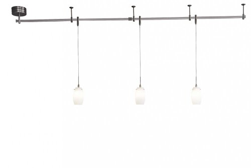 George Kovacs Brushed Nickel Five Light Bath Fixture In: George Kovacs P8003-1-084, Monorail Low Volt Track