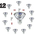 SleekLighting MR16, 20 Watt, 12V, Light Bulb Spotlight, Recessed, Track Lighting. 2700K (12 Pack)
